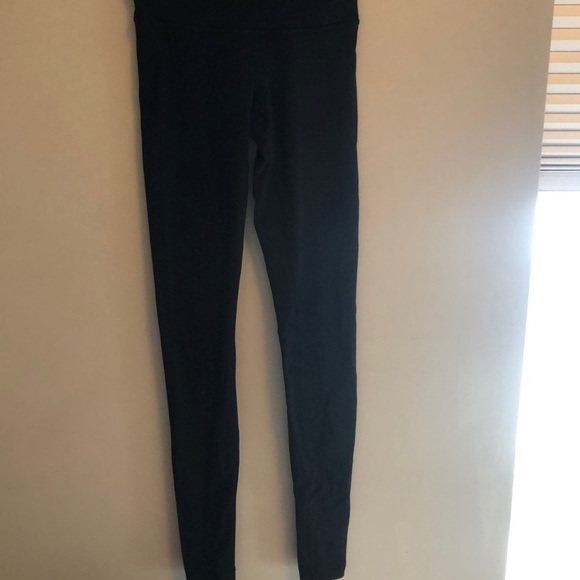 Lululemon wunder under full length black tights